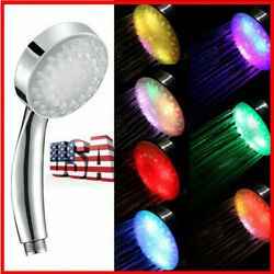 Automatic Changing Led Shower Head 7color Sprinklers Faucet Water Current Energy