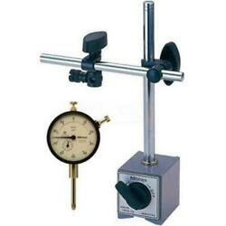 Mitutoyo 1 Dial Indicator White Agd 2 And Magnetic Base Set