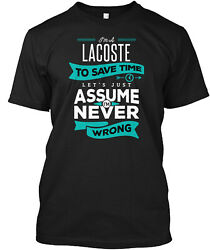 Teespring Lacoste Never Wrong Classic T Shirt 100% Cotton