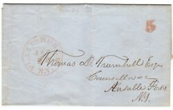 Plattsburgh Ny 1851 Stampless Cover To Ausable Forks North Country Collector