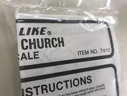Life-like Model Trains   7410 N Scale Village Church   Sealed   Free Shipping