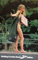 Landlubber Clothes Jeans Print Ad 1970s Nude Woman Hitchhiker Hippie And Burnett's