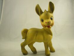 Vintage Rempel Donkey Rubber Squeaker Toy