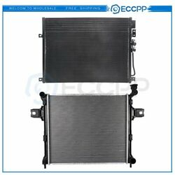 Aluminum Radiator And Ac Condenser Cooling Kit For 2006-2010 Jeep Commander