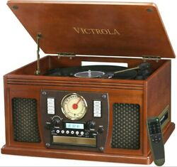 Victrola Navigator 8-in-1 Classic Bluetooth Record Player With Usb Encoding And