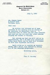 John F Kennedy / John F Kennedy Signed Letter Mentioning His Brother Bobby