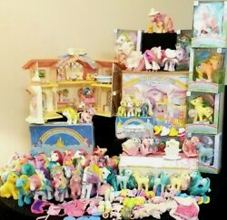 My Little Pony Vintage 80's Mix Mlp Rare Figurine Toys And Accessories Lot ❤