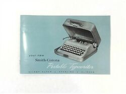 Silent Super, Sterling Or Clipper Smith Corona Typewriter Instruction Manual
