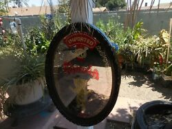 Vintage Smoked Glass Mirror Oval Sign Imported Kahlua Liqueur By Maidstone 26