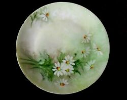 Hutschenreuther Gelb Plate Lhs China Floral Bavaria Germany