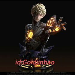 One Punch-man Genos 1/1 Scale Bust Model Resin Statue Pre-order Led Light Anime