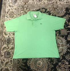 Lacoste Collared Short Sleeve Bright Green Polo Shirt Menand039s Size 7