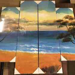My Art Outlet 4 Sets Of Hand Painted Decorative Painting 4847