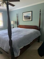 Bedroom Furniture Set King Size 4 Poster Bed With Optional Canopy. Thomasvilleandnbsp