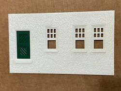 Vintage Plasticville O Scale Passenger Station Rear Wall With Door
