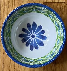 Cynthia Rowley Blue Green Floral Melamine Cereal Bowls Set Of 4 Matches Diamond