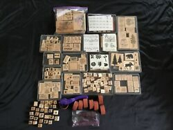 Huge 100+ Stampin Up Lot Rubber Stamps Craft Kidsthank Youholiday And More