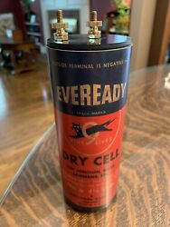 Antique Refillable Eveready Nine Lives Dry Cell Battery Telephone Radio Lantern