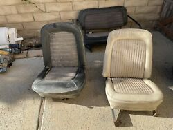 First Generation Ford Bronco Factory Interior Front + Rear Seats 1966-1977