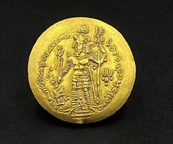 Currency Jewelry Old Antique Ancient Indo Greekand039s Kushan Sasanian Gold Coin