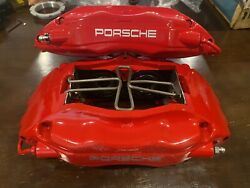 Porsche 993 964 Brembo Calipers Big Red 99335142510 99335142610 Pair Turbo Rs