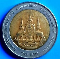 Real Coin King Rama 910 Baht50 Years Reign Celebrations Be2539 Ad 1996 Ra