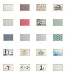 Ambesonne Anchor Nautical Wall Art With Wide Frame For Bathrooms Living Room