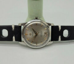 Rare 1952 Omega Seamaster Calendar Silver Dial Date Cal355 Auto Manand039s Watch