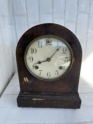 Antique Waterbury Chime Clock Westminster Mantel Untested But Seems To Work