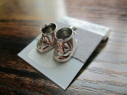 Vintage Beau Sterling Silver Baby Shoes Charms Pendant Shower Gift W/tag
