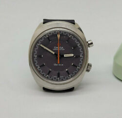 Rare Vintage 1969 Omega Chronostop Cal865 Grey Dial Manual Wind Manand039s Watch