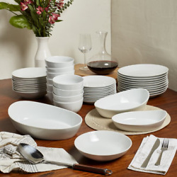 Esmehan 43 Piece Dinnerware Set, Service For 10 Collections Bring A Casual Eleg