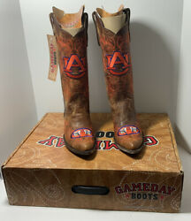 Auburn University Gameday Tall Cowboy Boots Women's Us Size 6.5b New With Tag