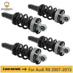4pcs Front Rear Left + Right Air Suspension Shock Absorber For Audi R8 2007-2015