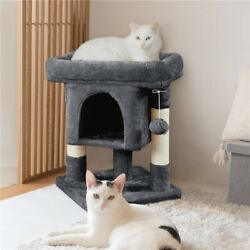 Cat Tree Tower w Cozy Plush Condo amp; Sisal Covered Scratching Posts for Kitten
