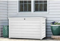 Keter 230-gallon Deck Box Uv-resistant All Weathered Storage White