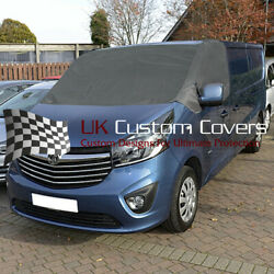 Renault Trafic 2014 On Deluxe Windscreen Screen Frost Wrap Cover 251 Dark Grey