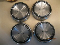 C8oa-1130-c Set Of 4 Vintage Ford 68-69 Gt Mustang Styled Steel Center Hub Caps