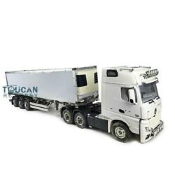 Rc 1/14 Hercules Benz Tractor Truck 40ft Reefer Semi-trailer Metal Chassis Model
