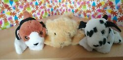 3 Rare Dsi Toys Puppy Puppy Puppies Soft Toys 2001 Collectables Squeakers