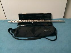 Gemeinhardt 3shb Open-hole Solid Silver Head Low B Flute In Case Ready To Play