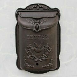 Vintage Cast Iron Large Dove Wall Door Mounted Mail Box Home Letter Handmade