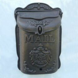 Vintage Cast Iron Angels Heavy Wall Door Mounted Mail Box Home Letter Handmade