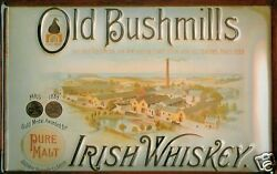 Old Bushmills Whiskey Factory Tin Sign Shield 3d Embossed 7 7/8x11 13/16in
