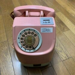 Vintage Japanese Publlic Payphone 10 Yen Pink Telephone Rotary Dial Phone
