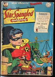 Star Spangled Comics 75 1941 Dc Feat. Robin And Tomahawk
