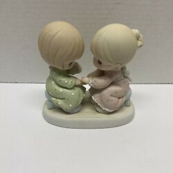 Precious Moments You Are Always There For Me Sisters 1996 Figurine 163635