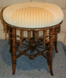 Antique Foot Stool Footstool Chinese Chippendale Fully Restored English