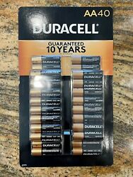 New - March 2030 - Duracell Coppertop Aa Alkaline Batteries - 200 Count 5x 40