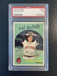 1959 Topps Cal Mclish Psa 7 Nm Near Mint 445 Cleveland Indians